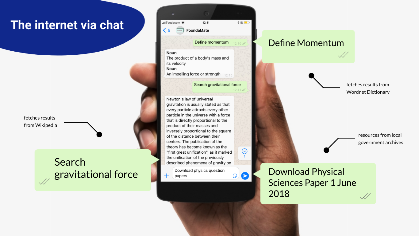image of student studying online using WhatsApp